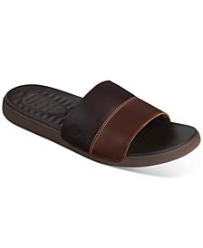 Men's PlushWave Slide Leather Sandals