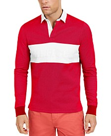 Men's Colorblocked Long-Sleeve Polo
