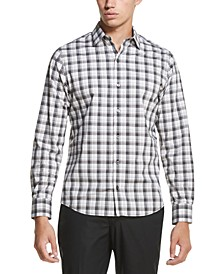 Men's French Placket Plaid Performance Stretch Woven Shirt