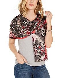 INC Reptilian Garden Pashmina, Created for Macy's