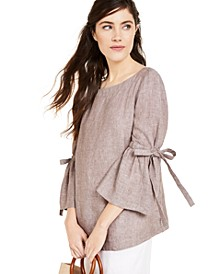 Linen Bell-Sleeve Top, Created for Macy's