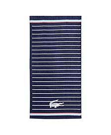 "Navy Sunbeam Cotton 36"" X 72"" Beach Towel"