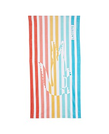 "Multi Stripes Cotton 36"" X 72"" Beach Towel"