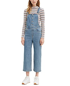 Cropped Wide-Leg Overalls