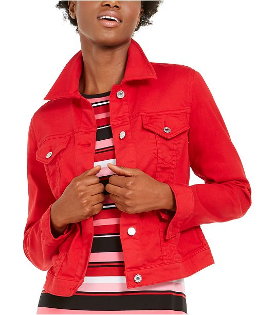 Michael Kors Cotton Denim Jacket, Regular & Petite