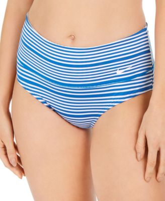 Sport Mesh High-Waist Swim Bottoms
