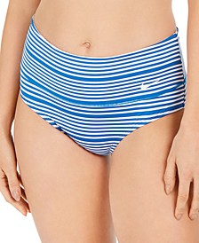 Sport Mesh High-Waist Swim Bottoms