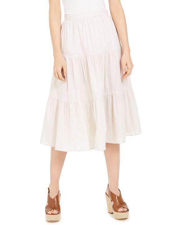Michael Kors Tiered Midi Skirt