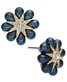 Crystal & Imitation Pearl Flower Stud Earrings, Created for Macy's