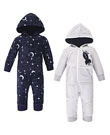 Baby Boy Fleece Jumpsuits, 2 Pack