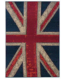 "Oriental Weavers Area Rug, Kaleidoscope 505R Union Jack 6'7"" x 9'1"""