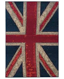 "Oriental Weavers Area Rug, Kaleidoscope 505R Union Jack 9'9"" x 12'2"""