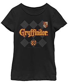 Harry Potter Big Girl's The Deathly Hallows Gryffindor Pride Short Sleeve T-Shirt