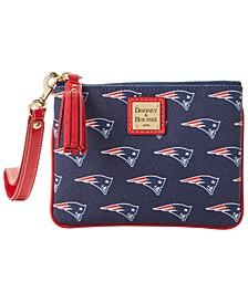New England Patriots Saffiano Stadium Wristlet