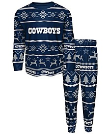 Big Boys Dallas Cowboys Wordmark Holiday Pajama Set