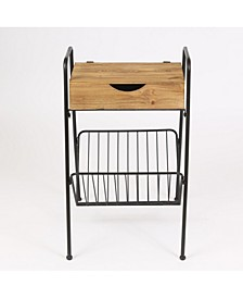 Accent Table With Rack