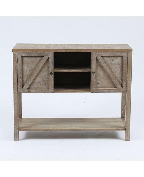Luxen Home Wood Farmhouse Buffet Storage Cabinet