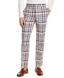 Men's Classic-Fit Pink and Blue Tartan Dress Pants