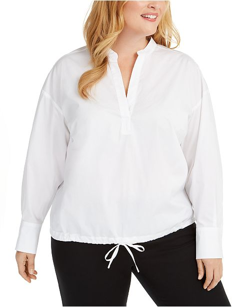 Alfani Plus Size Popover Shirt, Created for Macy's