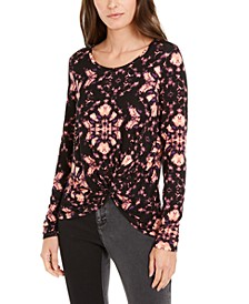 INC Printed Twist-Front Top, Created for Macy's