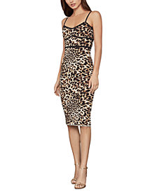 BCBGMAXAZRIA Leopard-Print Bodycon Dress