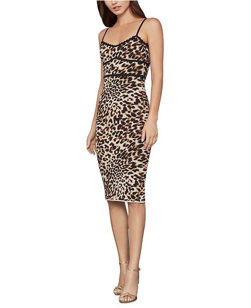 BCBGMAXAZRIA Leopard-Print Bodycon Dress