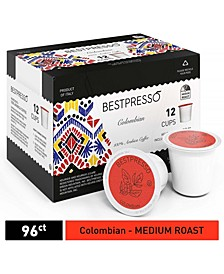 Coffee Colombian Flavor Single Serve K-Cup, 96 Pods per Pack