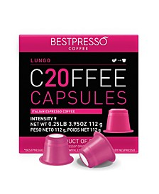 Coffee Lungo Flavor 120 Capsules per Pack for Nespresso Original Machine