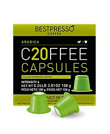 Coffee Arabica Flavor 20 Capsules per Pack for Nespresso Original Machine