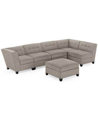 CLOSEOUT Harper Fabric 6Piece Modular Sectional Sofa with Ottoman