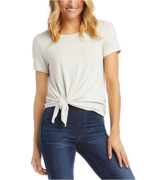 Karen Kane Textured Side-Tie Top