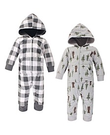 Baby Boy Fleece Jumpsuits 2 Pack