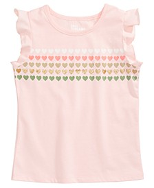Little Girls Heart Stripe T-Shirt, Created For Macy's