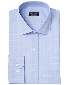 Men's Classic/Regular Fit Stretch Small Glen Plaid Dress Shirt, Created for Macy's