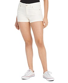Juniors' Mid-Rise Cuffed Denim Shorts