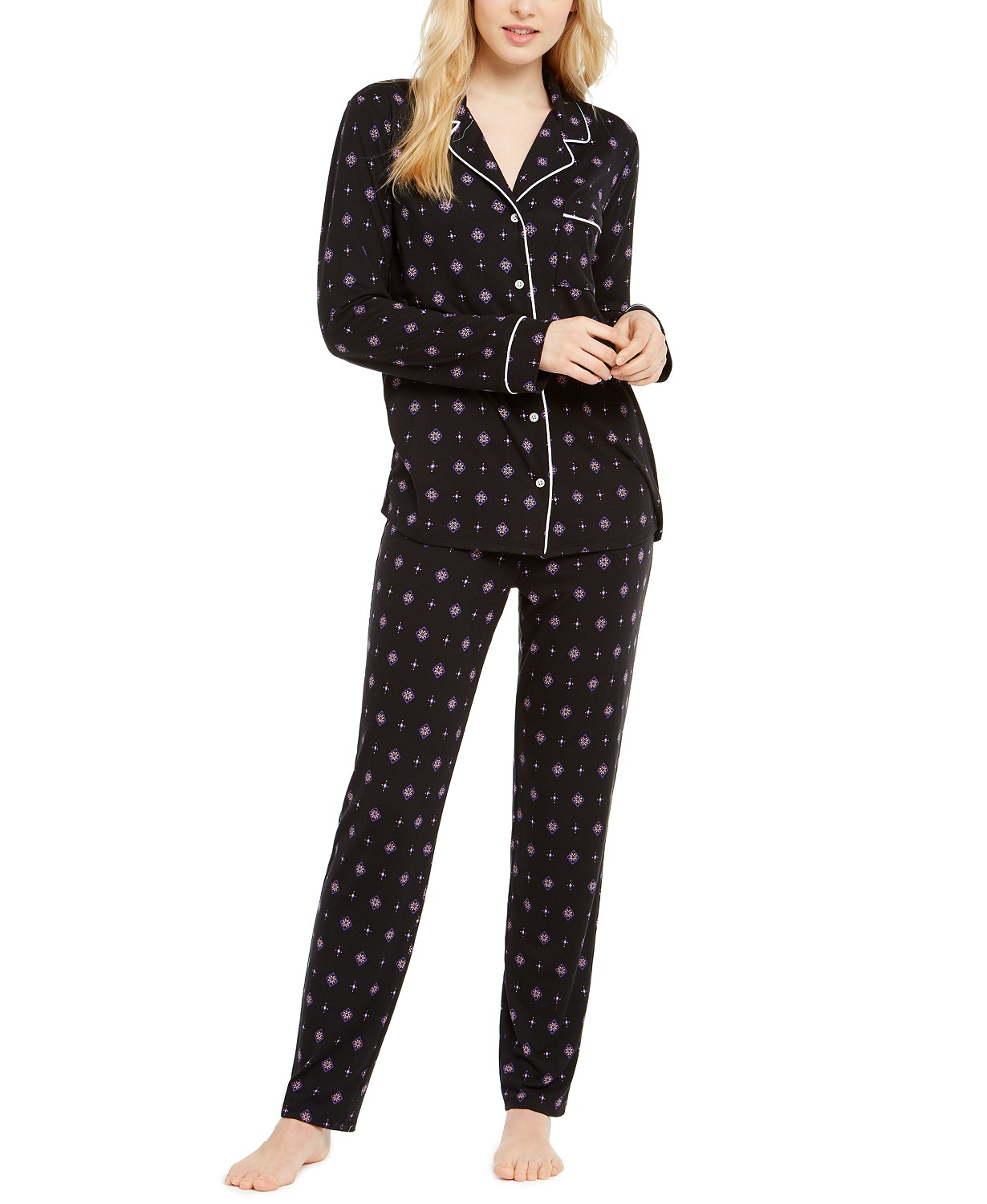 Printed Super-Soft Pajama Set, Created for Macy's