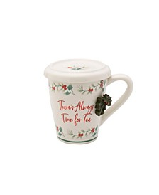 Winterberry Covered Mug with Tea Infuser