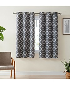 Obscura Bunbury Lattice Print Blackout Grommet Curtain Panels - Set of 2