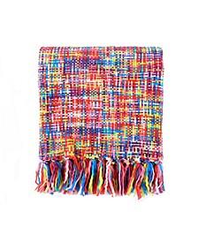 Tropical Style Rainbow Throw Blanket