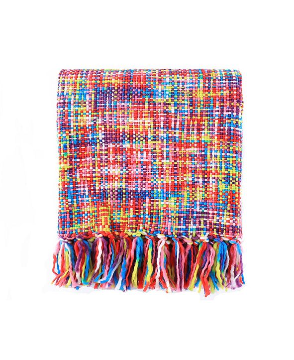 Battilo Tropical Style Rainbow Throw Blanket