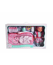 """16"""" Baby Doll With Carrier Accessories"""