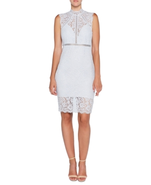 Bardot Illusion Lace Dress