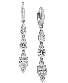 Silver-Tone Crystal Linear Drop Earrings, Created for Macy's