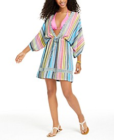 Havana Coast Striped Tunic Swim Cover-Up, Created for Macy's