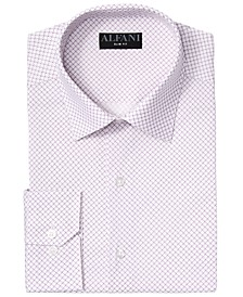 Alfani Men's Big & Tall AlfaTech Puzzle Print Dress Shirt, Created for Macy's