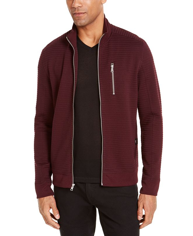 INC International Concepts INC Men's Ribbed Sweater Jacket, Created for Macy's
