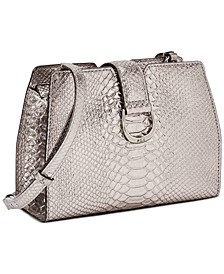 Bold Python Emboss Medium City Crossbody