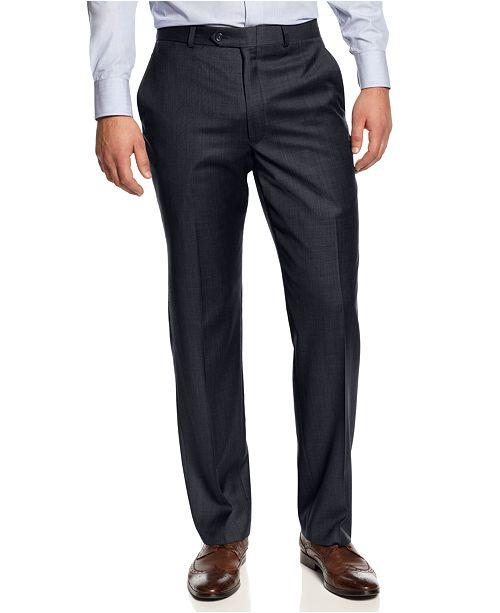 dece12891 ... Lauren Ralph Lauren Pants Ultraflex Flat-Front Solid Classic-Fit Pants  ...