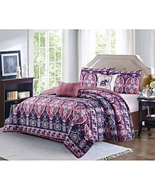 Victoria 5 Piece Quilt Set Full/Queen