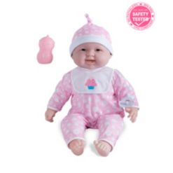 """Lots to Cuddle Babies 20"""" Huggable Baby Doll Pink Outfit"""